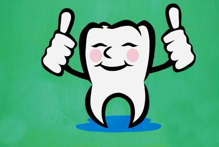 Painting of a tooth Stock Photo
