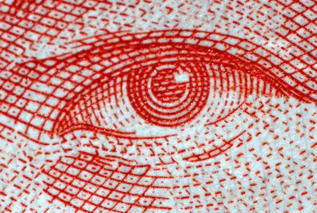human eye on the paper photo