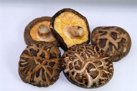 dried mushroom on the table