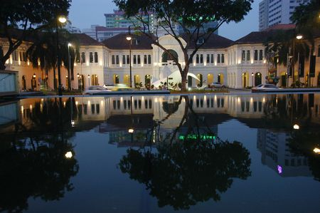 Water reflection of a historical building  Stock Photo