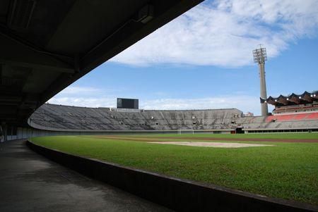 stadium and blue skies photo