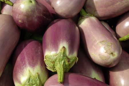 egg plant: egg plant at the food store  Stock Photo