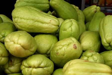 chayote: chayote selling at the markets