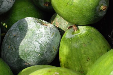 winter melon at the food store  Stock Photo