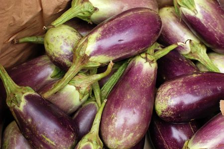 egg plant at the food store  Stock Photo