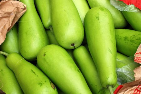 bottle gourd selling at the markets