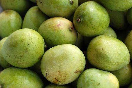 green mangos  Stock Photo