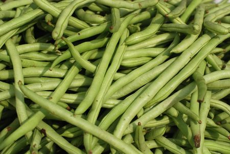 French bean at the market photo