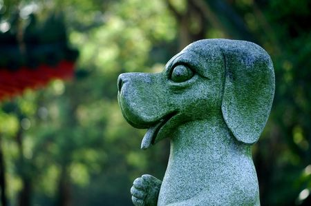 statuary: dog statuary in the parks