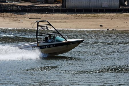 speed boat at the sea side  photo