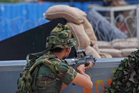 people playing war games Stock Photo - 1576286