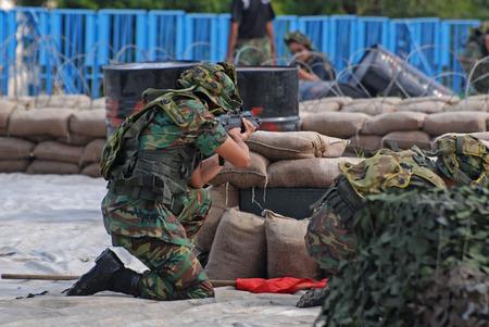 People playing war games Stock Photo - 1576279