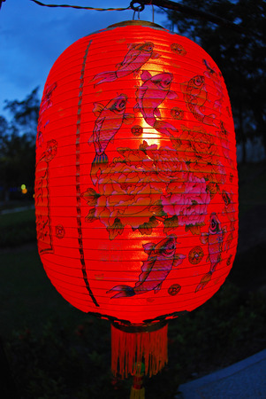 red lantern in the Chinese gardens photo