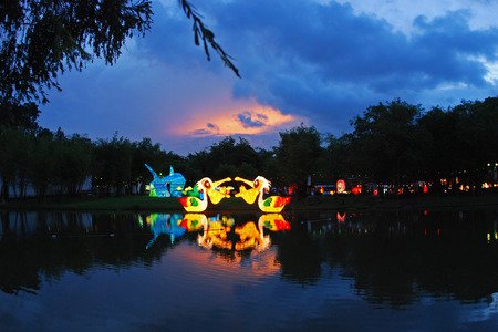lantern festival in the Chinese gardens Stock Photo - 1692475