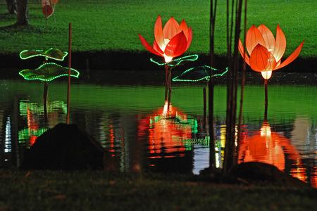 lotus lantern in the Chinese gardens photo