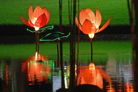 lotus lantern in the Chinese gardens Stock Photo - 1692578
