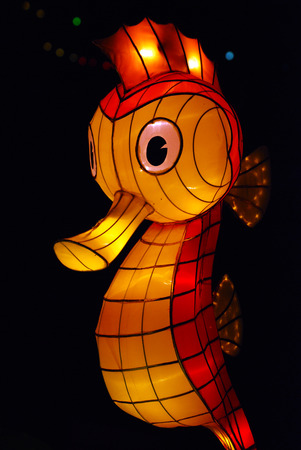 sea horse lantern in the Chinese gardens photo