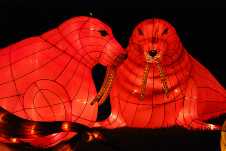 sea lion lantern in the Chinese gardens photo