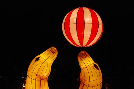 sea lion lantern in the Chinese gardens photo
