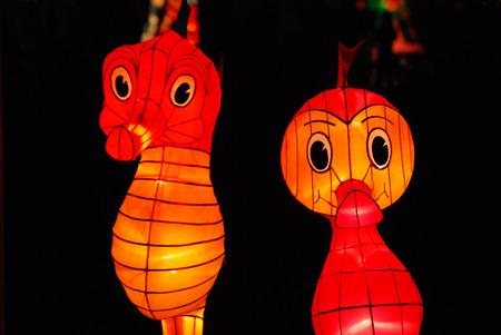 sea horse: sea horse lantern in the Chinese gardens