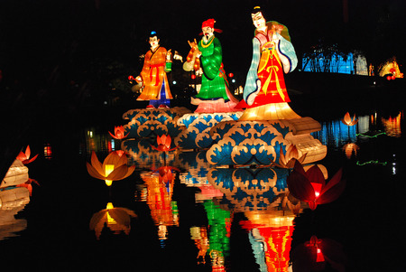 figure lantern in the Chinese gardens Stock Photo - 1692591