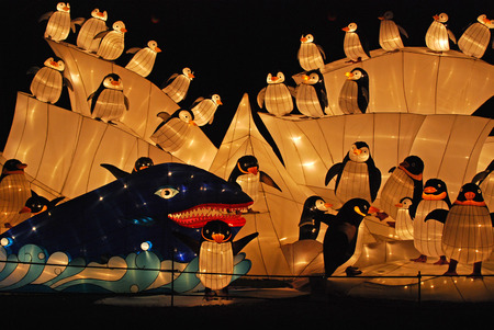 penguin lantern in the Chinese gardens photo