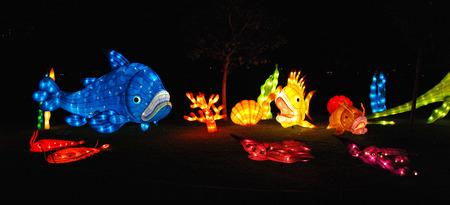 fish lantern in the Chinese gardens Stock Photo - 1685191