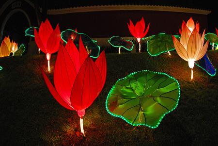lotus lantern in the Chinese gardens Stock Photo - 1684831