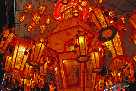 colorful lantern: lantern festival in the Chinese gardens