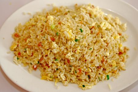 fried rice on the plate