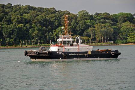 tug boat: tug boat in the open sea