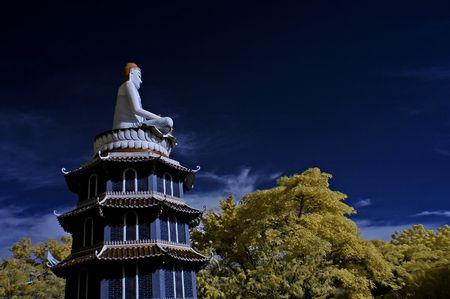 ir: Buddha status in the theme parks Stock Photo