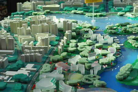 model of city development Foto de archivo