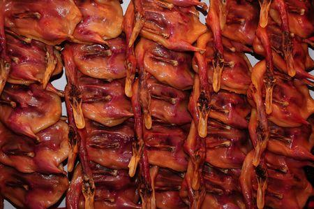 food stuff: wax duck in the market