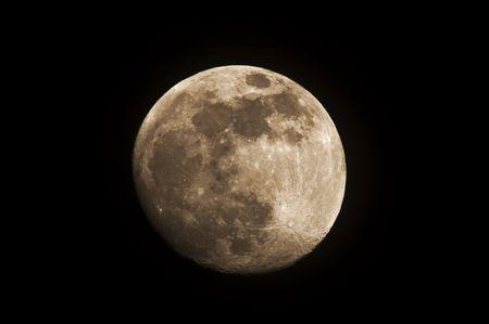 moon in the dark sky Stock Photo - 6270422