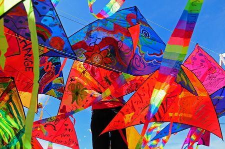 kleurrijke vliegende kites
