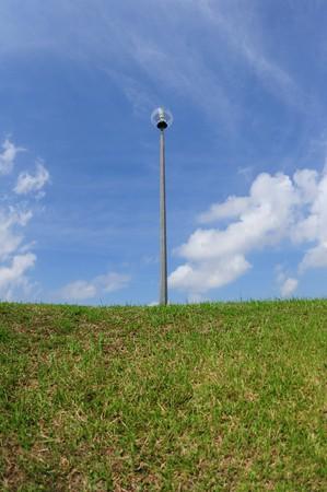 lamp post: lampada post e serbatoio Banca
