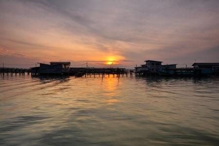 fishing village: sunrise over the fishing village