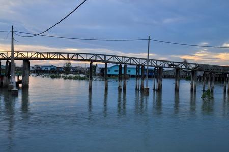 build in: wooden bridge build in the swamp land