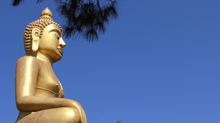 Culture Of Buddhist Golden Big buddha