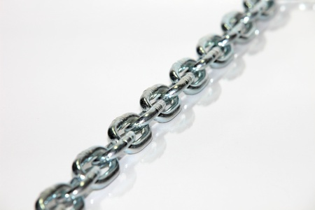 chain macro on cold brushed metal, heavy duty chain with limited dof and copypace  Stock Photo - 9954981