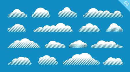 Set of vector clouds Illustration