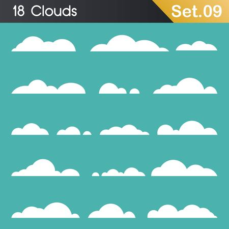 Vector of clouds collection 免版税图像 - 101602443