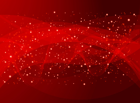 star background: red holiday abstract background Illustration