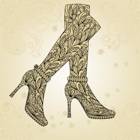 fashion shoes: Fashion shoes background.