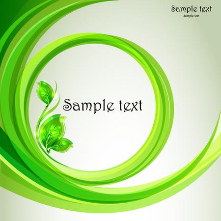 Tak met verse groene bladeren - vectorecoontwerp
