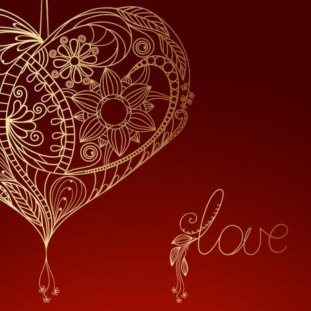 Valentine rode achtergrond