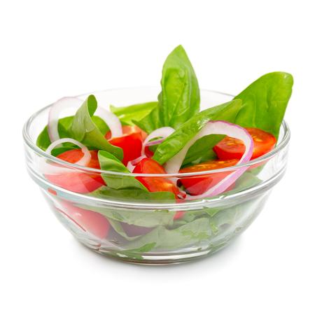 Lichte salade met spinazie en tomaten