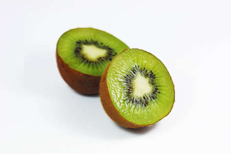 isoleted: Kiwi sliced in half isoleted Stock Photo