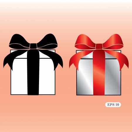 illustration Gift box with bow Stock Vector - 19314950